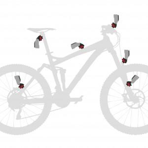 KLICKfix Camon Gopro Kamera Halter Befestigung Fahrrad