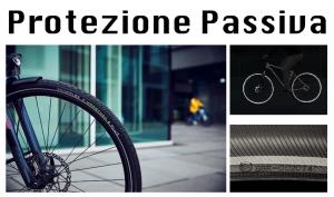 Protezione Passiva rappresentata dalla linea bianca Reflex su i Pneumatici da Bicicletta