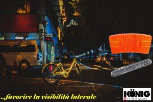 Catarifrangenti, protezione passiva per biciclette da applicare su ruota pedali forcelle e palette segnalatrici