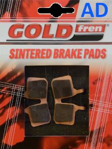 Pastiglie per freni a disco bicicletta GOLDfren, compatibili con Magura uso Ebike con placchetta in Rame  e mescola carbo-Ceramica sinterizzata